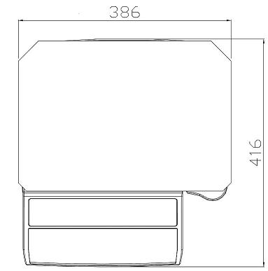 DIGI SM-100 Series Dimensions Upper Side