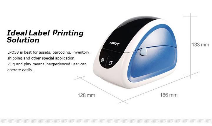 LPQ58 2″ Thermal Label Printer