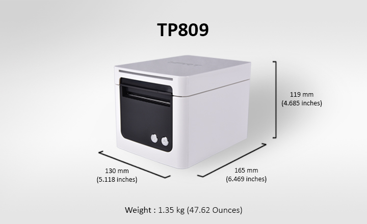 TP809 Printer Specifications